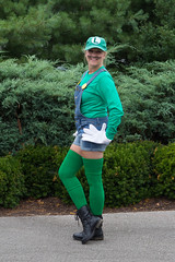 #TDIH August 16, 2014 (WindJammer Photo) Tags: august 2014 outdoor portrait costume luigi hat thighhigh socks boots gloves beauty beautiful gorgeous sexy wife tdih