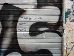 Make love, not war (aestheticsofcrisis) Tags: street art urban intervention streetart urbanart guerillaart graffiti postgraffiti athens athen attiki athina greek greece europe eu exarcheia exarchia