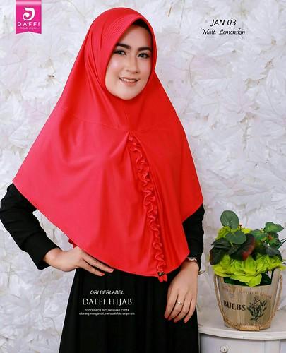 Jilbab Hijab Instan Dasi By Daffi Bahan Lemon Skin Ecer Idr 62 000