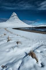 """Illuminated arrowhead"" (Pez Fotografia) Tags: iceland kirkjufell full moon landscape winter snow pezfotografia wwwpezfotografiacom infopezfotografiacom"