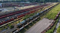 Toton (Sam Tait) Tags: railway toton long eaton sadiacre siding dji spark drone safe db shenker class 60 tug diesel loco locomotive