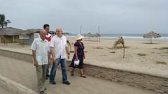 Playa de Palmar, con los padres de David