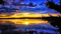 Fusion Vista (Bob's Digital Eye) Tags: aug2018 bobsdigitaleye canon canonefs1855mmf3556isll clouds flicker flickr laquintaessenza lake lakesunset lakescape silhouette sunsetsoverwater t3i water weather skyscape sky