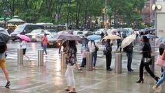 New York Crowd Series 9 (PDX Bailey) Tags: newyorkcity new york city urban eastcoast crowd people mass many colorful building architecture street photography photo picture color rain umbrella storm explore