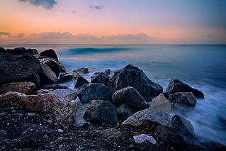 Dawn at Kamari Black Sand Beach
