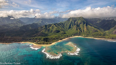 (Nicholastran213) Tags: napali napalicoast coast hawaii kauai sand waves blue sky green tree beach aerial