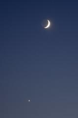 Moon and Venus (Denis Vandewalle) Tags: moon lune sky astrophoto astronomy astrophotography planète planet conjonction