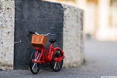 This bike is waiting for someone... (EatMyBones) Tags: stuckinplastic figurine miniature paris poseskeleton rement skeleton toy toyphotography toysafari