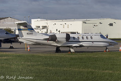 84-0083 Learjet C-21A US Airforce Glasgow airport EGPF 16.08-18 (rjonsen) Tags: plane airplane aircraft aviation business jet corpoprate military