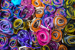 Colourful scarfs in the mile of wool!! (Evan_Ser) Tags: wool scarfs edinburgh colours woolenmile scotland creative passion