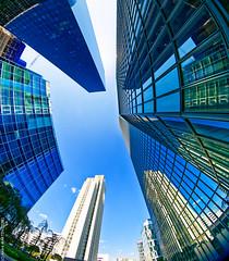 La Défense (L'Abominable Homme de Rires) Tags: ladéfense skyscraper immeuble tour architecture paris canon5d 5dmkiii cannon fisheye 815mmfisheyef4 dxo photolab lightroom