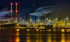 Tata Steel by night (erolbaran) Tags: xt2 reflections cityscape industry night
