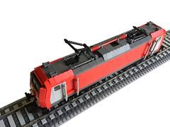 DB Schenker Rail TRAXX (d.tomsen) Tags: lego train locomotive railroad danish moc rendering traxx schenker db bombardier legodigitaldesigner lddtopovray