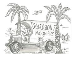 Dimension 7 Moon Pies (rod1691) Tags: myart art sketchbook bw scfi grey concept custom car retro space hotrod drawing pencil h2 hb original story fantasy funny tale automotive illustration greyscale moonpies sketch sexy voodoo
