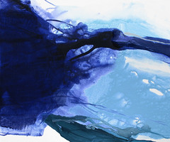 Sapphire / Diamond Sea (Suz .. Abstract Art) Tags: blue fresh water sapphire painting art diamond expressive silver love abstract modern watercolor paint white joy oil happiness