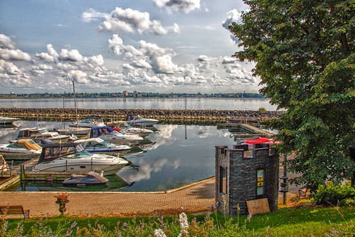 Prescott Ontario - Canada -  Sandra S Lawn Harbour - Reflection