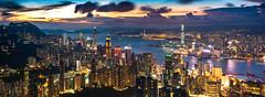 Jardine's Lookout , Hong Kong (kkanok403) Tags: em5mark2 jardines lookout hong kong olympus omd em5ii panasonic 1232 f3556 twilight cityscape victoria harbour city skyline
