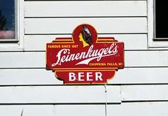 Leinenkugel's (Cragin Spring) Tags: wisconsin wi midwest unitedstates usa unitedstatesofamerica rural sign leinenkugels beer auroraville auroravillewi auroravillewisconsin indian piwo bier
