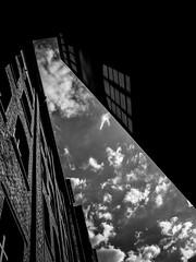 R0059336 (seba0815) Tags: ricohgrdiv grd monochrome bw blackwhite blackandwhite streetphotography building architecture reflection backyard city frankfurt clouds sky light shadow urban urbanarte seba0815