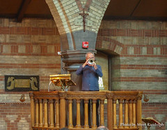 Horn Blower (redroofmontreal) Tags: jazzmass stjohntheevangelist saintjohntheevangelist service mass liturgy anglican anglocatholic church christian montreal redroof redroofchurch myerrandolph