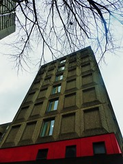 Grey & Red (teaselbrush) Tags: birmingham west midlands uk british england city urban tower block blocks towerblock flats offices modern architecture skyscraper geometric geometry brutalist brutalism modernist concrete red