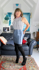 Blue Skirt (Trixy Deans) Tags: crossdresser cd cute crossdressing crossdress classic cocktaildress corset shortskirt shortskirts boots kneeboots shorts tgirl tv transgendered transsexual transvestite tgirls xdresser sexy sexyheels sexytransvestite sexylegs shemale