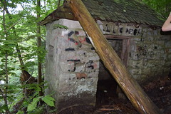 Abandoned (James Kleban Photography) Tags: lovers leap new milford connecticut mushrooms hike hiking photography photographer bridge sun adventure abandoned building forest trail nature nikon d3300 stone wall macro