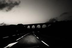(blazedelacroix) Tags: bridge blur road blackandwhite night blazedelacroix provence zeiss sony rx100