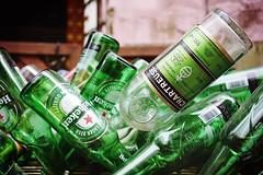 Heineken and Chartreuse (Eric Flexyourhead) Tags: umeda 梅田 kitaku 北区 osaka osakashi 大阪市 kansai 関西地方 japan 日本 city urban detail fragment backstreet bottle bottles empty emptybottles beer heineken chartreuse green shallowdepthoffield sonyalphaa7 zeisssonnartfe35mmf28za zeiss 35mmf28