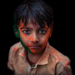 Tri colour (shravann93) Tags: colours black portrait india holi2018 holi expression