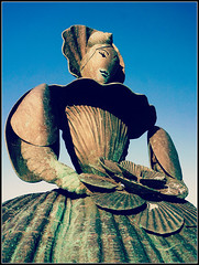 Mrs.Booth (Jason 87030) Tags: shell lady statue sea pier carrington turner margate thanet kent mrsbooth sculpture shells woman mistress female dress michelle lover sky material tag ann art history