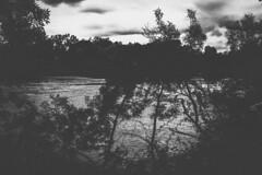 Menace (Delphine Wild) Tags: fleuve nb bw monochrome water eau nature orageux nuages clouds orage noir black dark