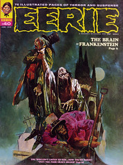 Eerie #40 (1972) cover by Sanjulian (Manuel Perez Clemente) (gameraboy) Tags: painting art illustration vintage sanjulian manuelperezclemente cover magazinecover eerie