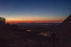 minutes to midnight (christyehh) Tags: mountains montañas midnight bonito atardecer sol magacela spain españa village canon azul rojo red blue cielo sky