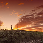 Whitby skyline at sunset. thumbnail
