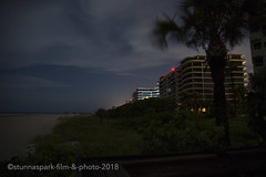 ©vance_longboat-5 (StunnaSpark Film and Photo) Tags: beach pool lights light palm tree florida night photography condo highrise stars clouds lido longboat