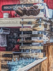 , waiting for my breakfast, love old repurposed building (frptlady....) Tags: painterly iphone8 oldbuildings rochesterny publicmarket