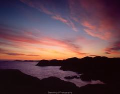 Sunset at Lindesnes (Steinskog) Tags: analog fujifilm velvia velvia50 mediumformat lindesnes norway 120mm pentax pentax67ii