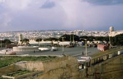 1981 Malta bus strike (foundin_a_attic) Tags: 1981 malta bus strike triton fountain valletta station january