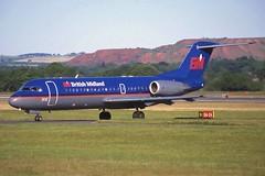G-BVTG Edinburgh 8-6-2001 (Plane Buddy) Tags: gbvtg fokker 70 britishmidland edi edinburgh