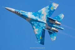 Ukrainian SU-27 Flanker (Mark_Aviation) Tags: ukrainian su27 flanker ukraine sukhoi su27p1m p1m blue 58 totterdown riat riat18 royal international air tattoo 2018 raf fairford egva airshow military jet prop loud fast