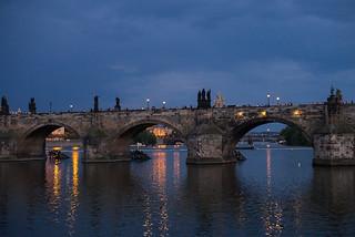 Prague: Charles Bridge at Night