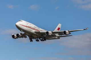 Bahrain Royal Flight Boeing 747-4F6
