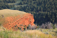 Red Cuesta (wyojones) Tags: wyoming cody trailcreek tiltedstrata triassicchugwaterformation hogback cuesta sandstone shale siltstone red ironoxides wyojones