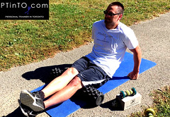 Hamstring Rolling with Rumble Roller (personaltrainertoronto) Tags: foam roller rolling massage trigger point therapy hamstring rumble