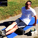 Hamstring Rolling with Rumble Roller