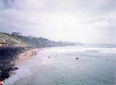 Coast Line. (miroir.photographie) Tags: coast surfing surfer argentique france cinestill50d filmisnotdead istillshootfilm 2018 50d 645nii analog biarritz cinestill pentax