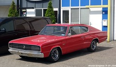 Dodge Charger 1966 (XBXG) Tags: dodge charger 1966 dodgecharger coupé coupe v8 red rood rouge weberstraat baanstee purmerend nederland holland netherlands paysbas vintage old classic american musclecar muscle car auto automobile voiture ancienne américaine us usa vehicle outdoor