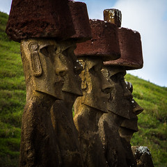 Anakena (Rodney Harvey) Tags: anakena easter island moai topknots statues remote mysterious iconic chile ancient