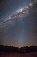 Venus in the cradle of the evening (nightscapades) Tags: airglow astronomy astrophotography autopanopro danjeradam galacticcore jupiter milkyway night nightscapes nowra panorama panos planets saturn shoalhaven sky southcoastnsw stars stitch venus yalwaldam zodiacallight yalwal newsouthwales australia